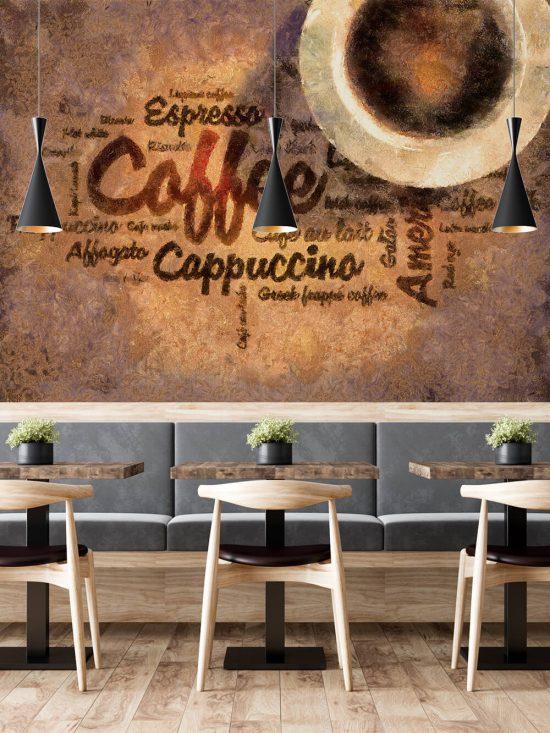 Zidna tapeta za kafić